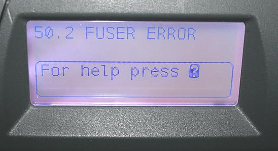 50.x PRINTER ERROR